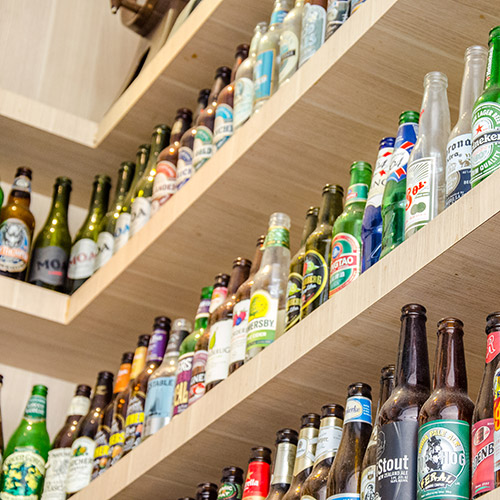 selection of bottled beers
